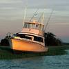 Brunswick  Georgia TowBoatUS Salvage of Mista Jay in Creighton Narrows in the Georgia Intracoastal Waterway Sunset