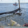 Salvage of No Name Sailboat by Lighthouse Dive Services and TowBoatUS Brunswick - 07-04-16