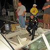 Salvage of 18 foot power boat at Jekyll Harbor Marina by TowBoatUS Brunswick, Georgia 04-14-12