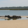 Shipwreck at R54 in the Cumberland River on the ICW (Intracoastal Waterway) 05-18-11