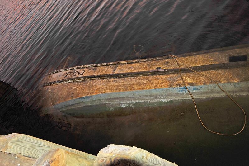 Sunken Shrimp Boat at Mary Ross Waterfront Park Docks 12-30-11