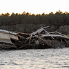 Sunken shrimp boat in Floyd's Creek along the Alternat Intracoastal Waterway (ICW) in Georgia