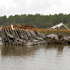 Shrimp boat wreck in the Alternate ICW (Intracoastal Waterway) near marker R-A26 in Georgia near Brunswick 01-02-11