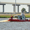 USCG Brunswick retrieving sunken 16 footer in Frederica River near Brunswick and St. Simons Island, Georgia off of the Intracoastal Waterway (ICW) on 05-08-09