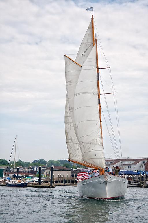 Schooner sailing in Newport Harbor