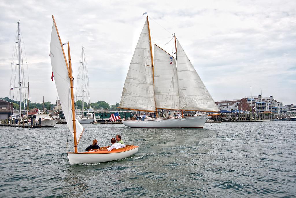 Large and small sailing at IYRS