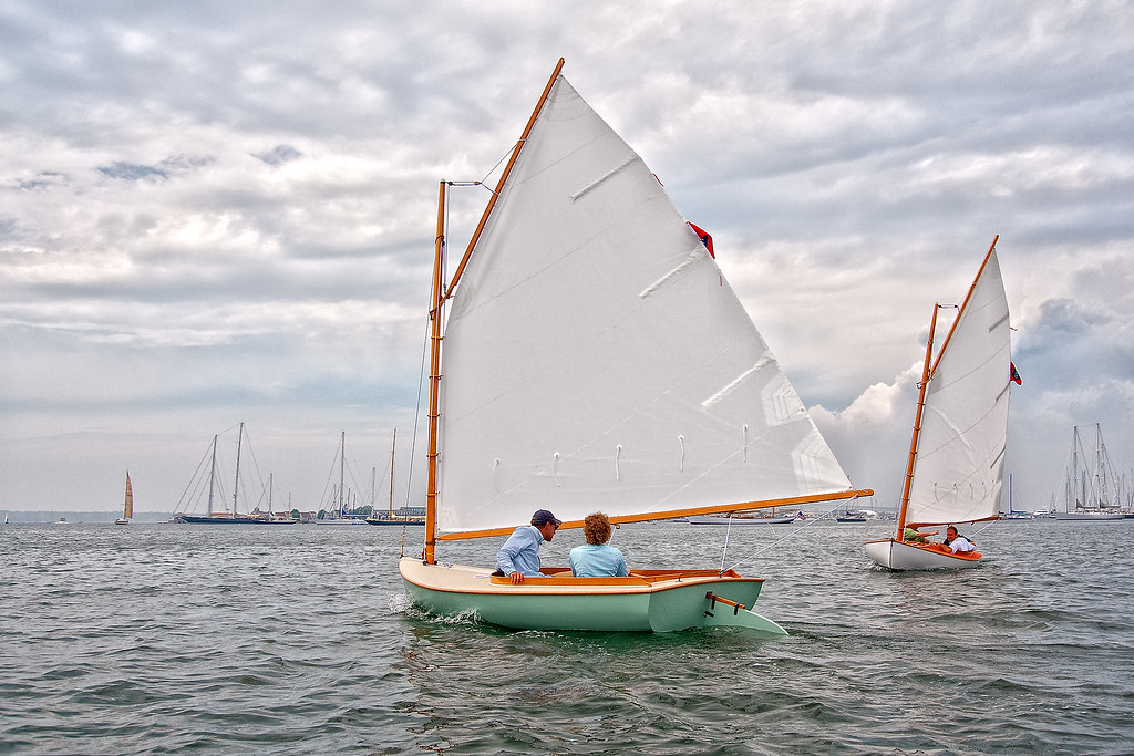 Beetle Cats sailing in Newport Harbor