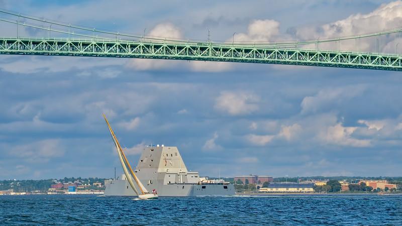 DDG 10000 Arriving Naval Station Newport, Rhode Island