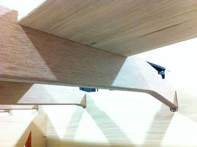 """The top surface of the keel received the same 3/16"""" radius to fit tightly into the frame recesses."""