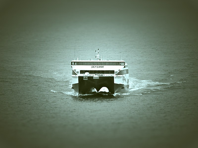 Spirit of KI approaching Cape Jervis.