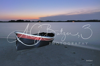 Dinghy on the Beach at Dusk