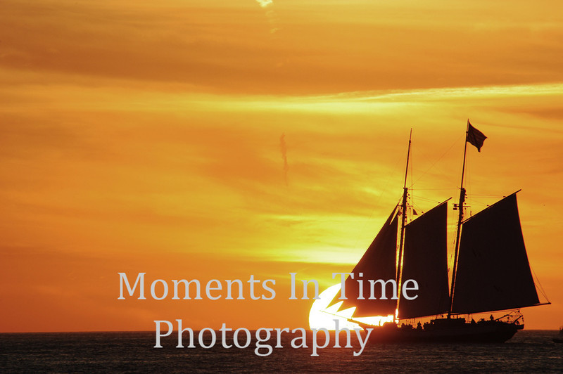 Sailing with the sunset