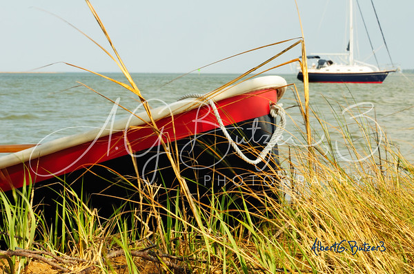 Ashore; Trinka Dinghy; Severn River, Mobjack Bay; Albert G Butzer 3 Fine Art Photography