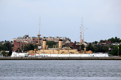 19th Century navy cruiser USS Olympia at Penn's Landing, Philadelplia