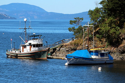 Fishing boats at Buchart Gardens, Vancouver Island, British Columbia