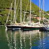 Sailboats at the Marina in Frenchmans Cay, Tortola, BVI