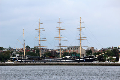 Four=masted barque Moshulu at Penn's Landing, Philadelphia, PA