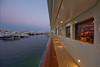 Side deck at dusk