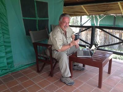 Tom Mangelsen took this photo of me in Kenya.