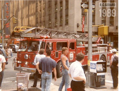 Apparatus Shoot - FDNY, Manhattan, NY - August 1989