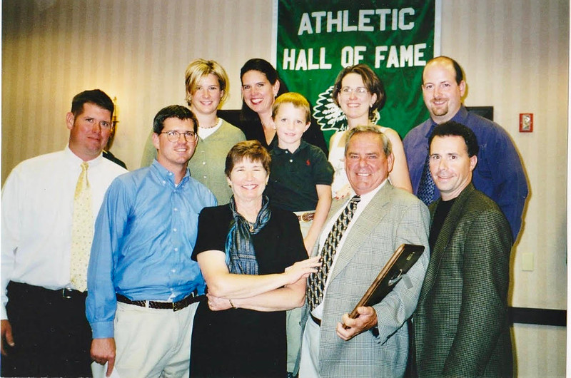 The Brown family, front row, from left, Bob Brown Jr., Jim Brown, Heather and Bob Brown Sr. and  Keith Sullivan; and, back row, from left, Jen Brown, Susan Sullivan, Brandon Brown, and Sandy and Andrew Rega (Courtesy photo from the Brown family)