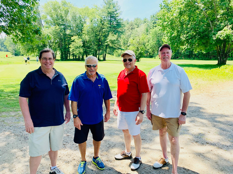 From left, Arthur Tucker of Stoneham, Rico Errico of Billerica, Dave Cook of Lowell and Steve Smith of Nashua