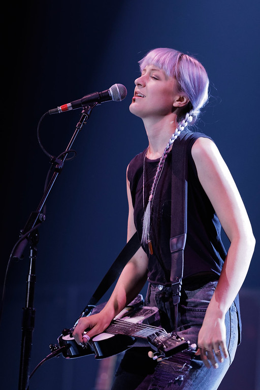 . Larkin Poe live at Huntington Center on 8-24-2017. Photo credit: Ken Settle