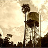The 4-story high water tower still stands.