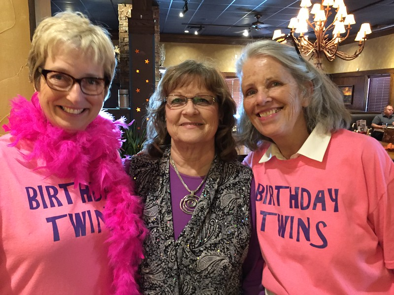 Lori Kruger's birthday is May 18th...so we often celebrate together. May 2016.