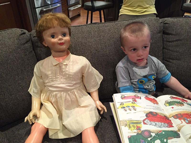 TJ still loves to read to Allison! Goldbug just never gets old!