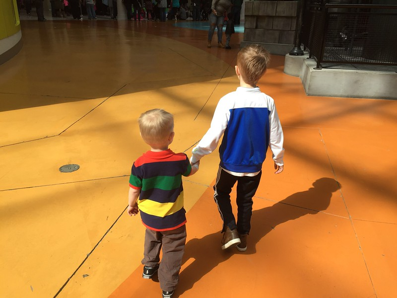 Fun with Austin, Carter and Karl at Mall of America, just before Easter, 2016.