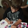 Making a card for Jo and Forrest before heading to Solvang. Amelia and Alex made it together.