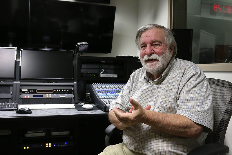 Billerica Access Television volunteer Bob Thorlton, 71, has been covering stories for the station for 26, years. SUN/JOHN LOVE