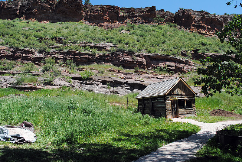 The chicken house, built in the late 1800s, is no longer collapsing after a recent restoration project at Bobcat Ridge Natural Area. (Pamela Johnson / Loveland Reporter-Herald)