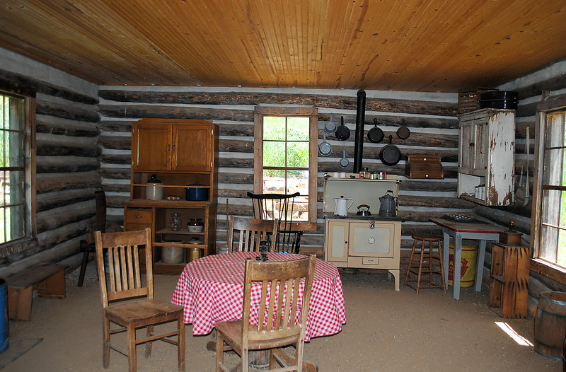 The inside of the Pioneer Cabin at Bobcat Ridge Natural Area has been furnished to look as it would have when homesteaders lived on the property, which is located near Masonville. (Pamela Johnson / Loveland Reporter-Herald)