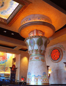 Pillar in Cheesecake Factory