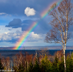 Rainbow over Little Traverse Bay