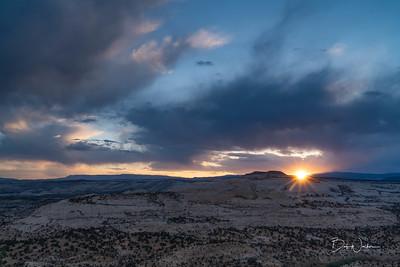 Sunset on Utah 12 between Escalante and Boulder