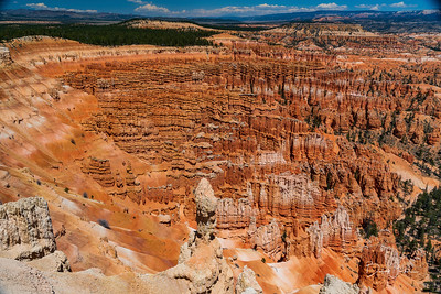 Looking down into Bryce Canyon from rim (Bryce Canyon National Park)