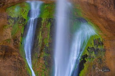 Close up of algae on Lower Calf Creek Falls
