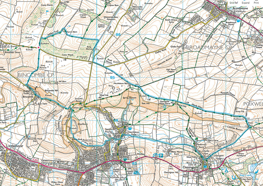 The route taken - we went anticlockwise
