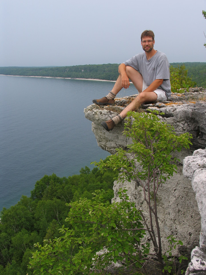Overlooking Georgian Bay near the Bruce Trail in Ontario