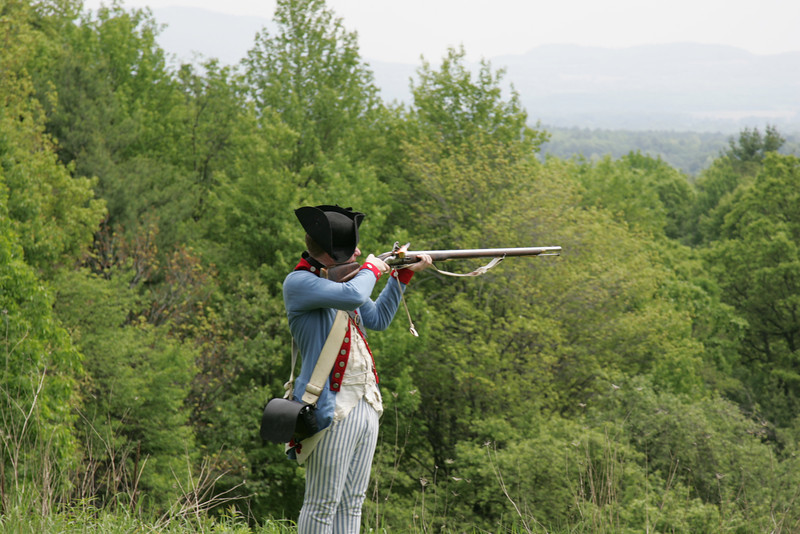 Flash in the Pan -- Musket Firing Demonstration at Saratoga National Battlefield, NY