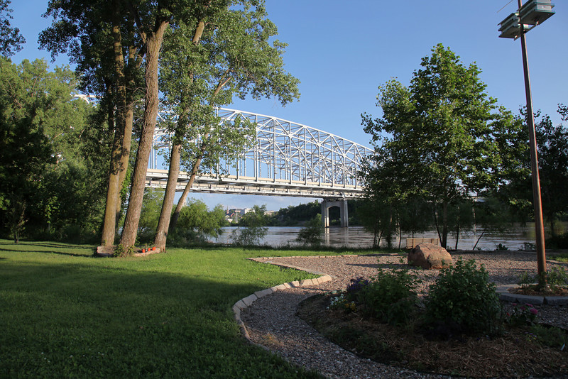 Missouri River Bridge from Cedar Creek Landing, Jefferson City, MO