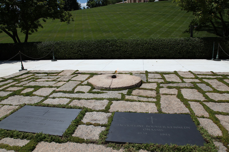 Eternal Flame and Graves of John & Jackie Kennedy -- Arlington National Cemetery