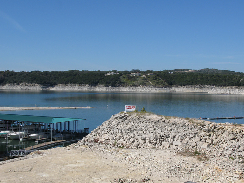 No Wake Warning and Low Water -- Lake Travis, Austin, TX