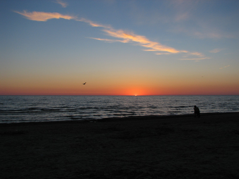 Sunset over Lake Huron at Sauble Beach, ON