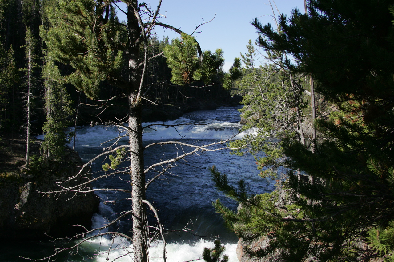 Yellowstone River at the Brink of the Upper Falls -- Yellowstone National Park