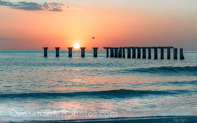 Sunset at the Belcher Street Pier; Boca Grande, Florida
