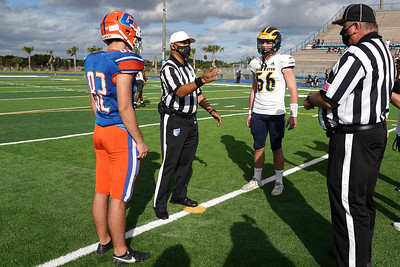 Chase Dixon & Winston Brockwell await the coin toss in today's championship game